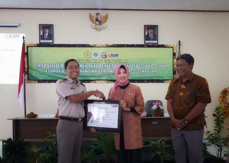 ISO SMAP, Karantina Bali Anti Suap