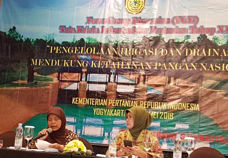 Pengelolaan Irigasi dan Drainase Mendukung Ketahanan Pangan