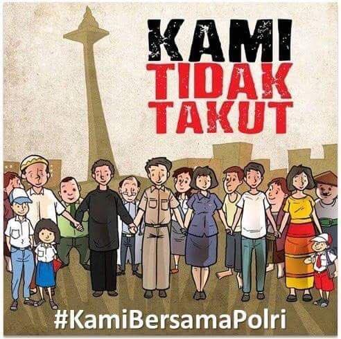 Dukungan #KamiBersamaPolri menggema di Linimasa