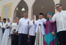 Pertamina menyerahkan bantuan secara simbolis ke Ponpes An-Nawawi Tanara, Serang
