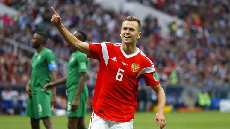 Gegap Gempita Sambut Kemenangan Timnas Rusia