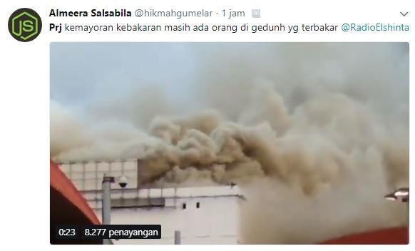 Begini Kondisi Sekitar saat Gedung di Area PRJ Terbakar Hebat