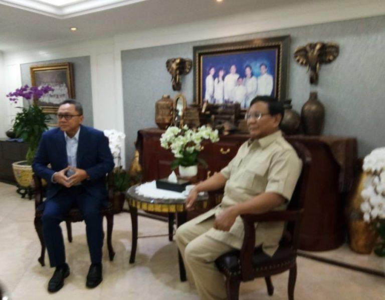 Bertemu Prabowo, PAN Semakin Giat Bangun Chemistry