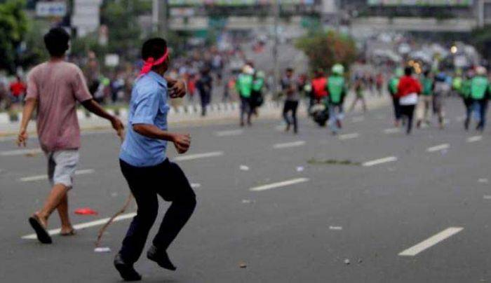 Ojol vs Opang di Bandung Kembali Bentrok