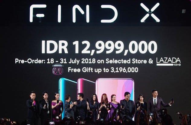 Resmi dirilis, Oppo Find X dibanderol Rp 13 juta