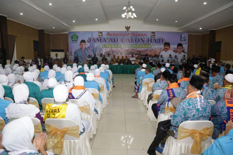 450 Jemaah Haji Embarkasi Surabaya Siap Diberangkatkan