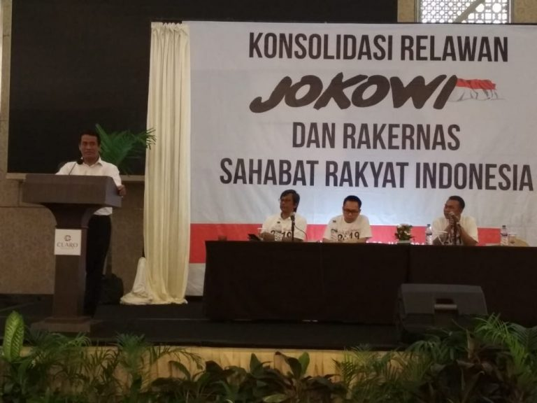 Sahabat Rakyat Gelar Rakernas dan Konsolidasi Suksesi Jokowi
