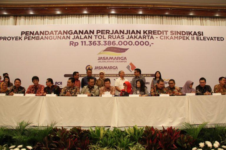 Proyek Tol Jakarta-Cikampek II Elevated Peroleh Kredit Rp11.36 T