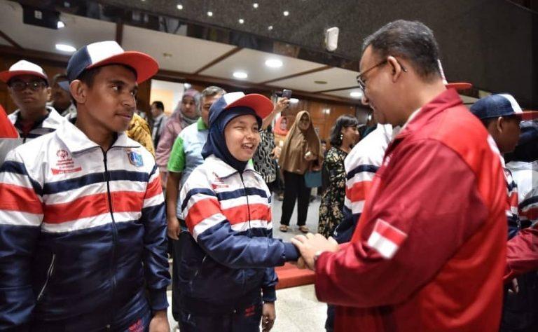Anies Doakan Kontingen Tuna Grahita Menang di Turnamen Olahraga