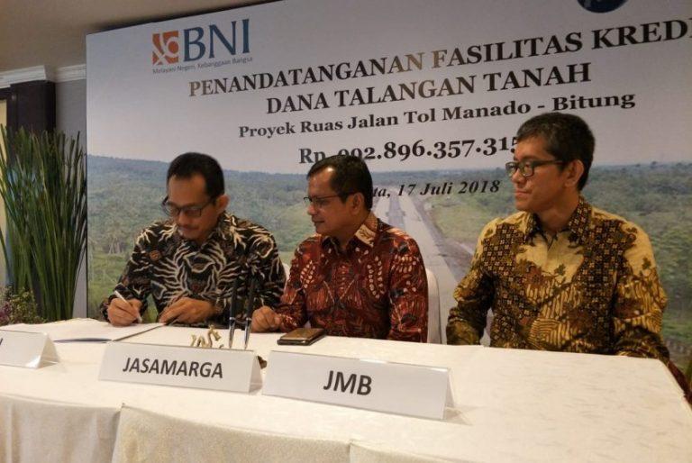 BNI Kucurkan Dana Rp623 Miliar untuk Ruas Tol Manado-Bitung
