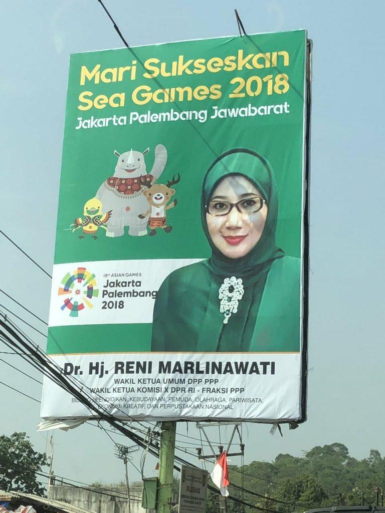 """Politikus PPP Klarifikasi Billboard """"Sea Games 2018"""" Miliknya"""
