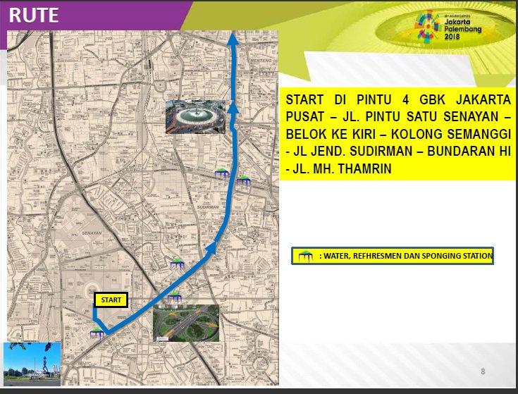 Jadi Arena Lari Maraton Asian Games, Kegiatan CFD Ditiadakan
