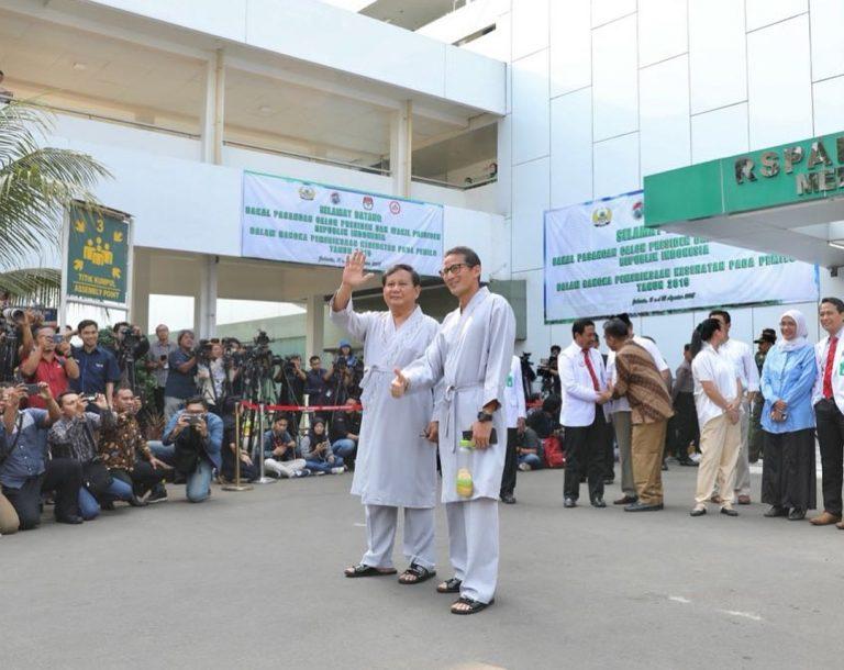 Prabowo-Sandiaga Mengaku Siap Jalani Tes Kesehatan