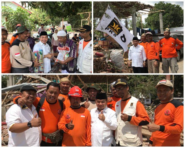 Fraksi PKS DPR Serahkan Bantuan untuk Korban Gempa NTB