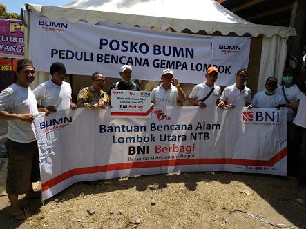 BNI Dirikan Posko Kesehatan dan Dapur Umum di Lombok