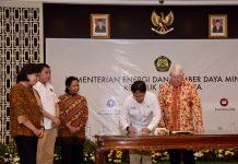 Penandatanganan Perjanjian Divestasi Saham Freeport di Kantor Kementerian ESDM
