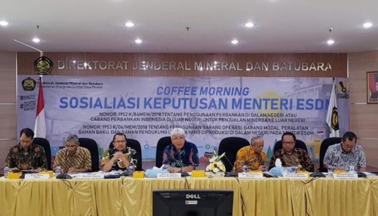 Pengusaha Minerba Diwajibkan Transaksi Pakai Bank Domestik