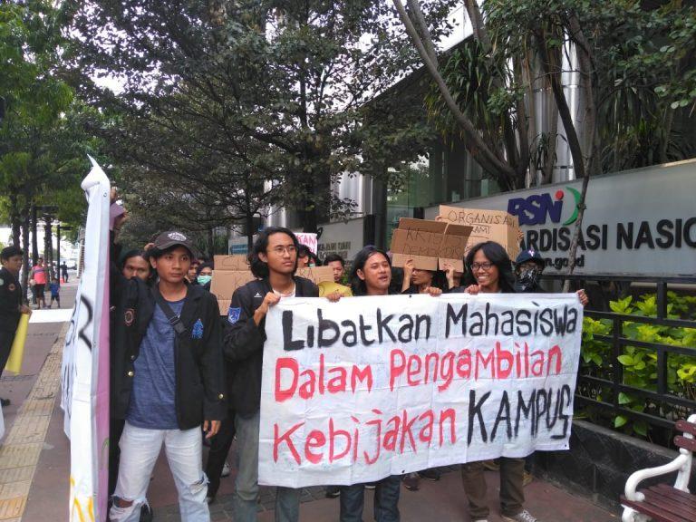 Tuntut Pencabutan Skorsing, Mahasiswa ISTN Adukan Pihak Rektorat ke DPR RI