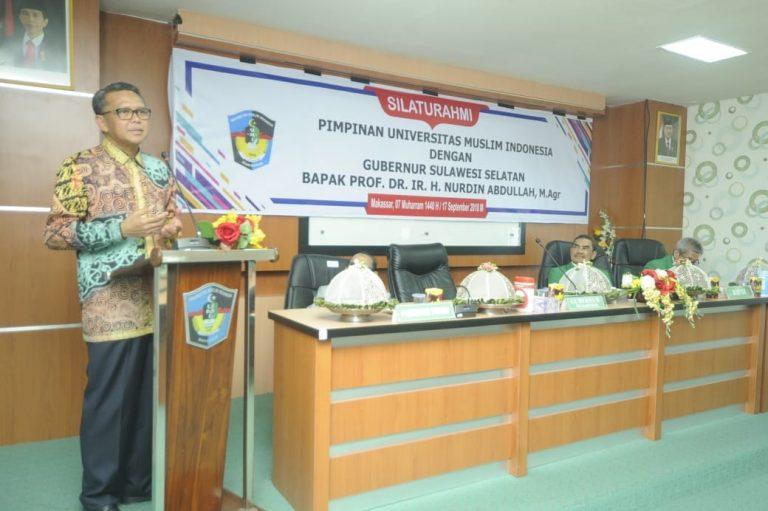 Gelar Silaturahmi, Nurdin Abdullah ajak Pimpinan UMI ikut kawal Pembangunan Sulsel