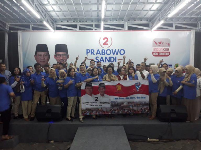 Relawan 'Pasa' Deklarasi Dukung Prabowo-Sandi