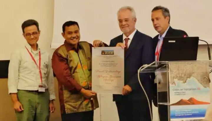 PVMBG Raih Penghargaan Bergengsi dariIAVCEI