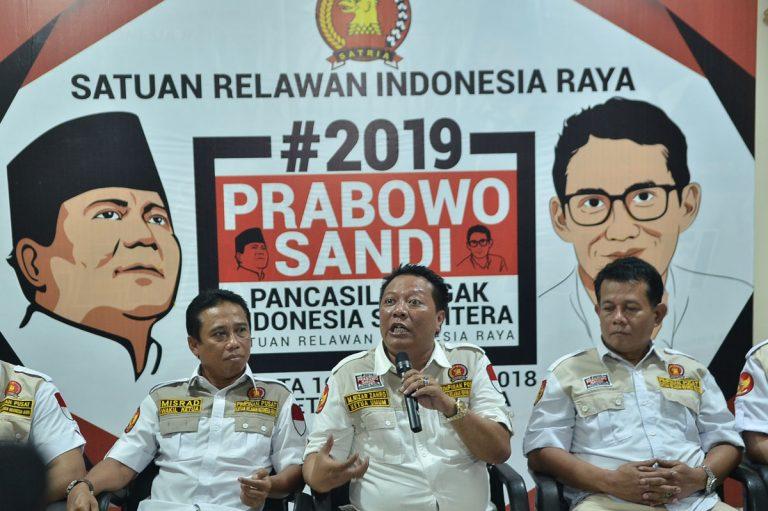 Deklarasi Dukungan #2019PrabowoSandi, Satria Libatkan Ribuan Pengurusnya