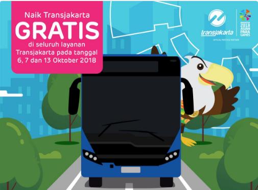 Selama Asian Para Games Naik Transjakarta Gratis, Catat Tanggalnya!