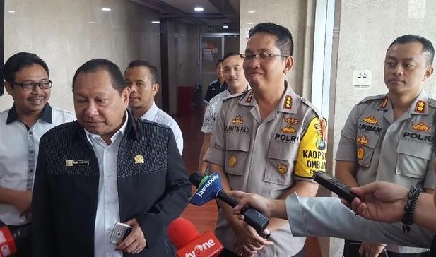 Polisi terjunkan tim sisir kondisi seluruh ruangan Anggota DPR