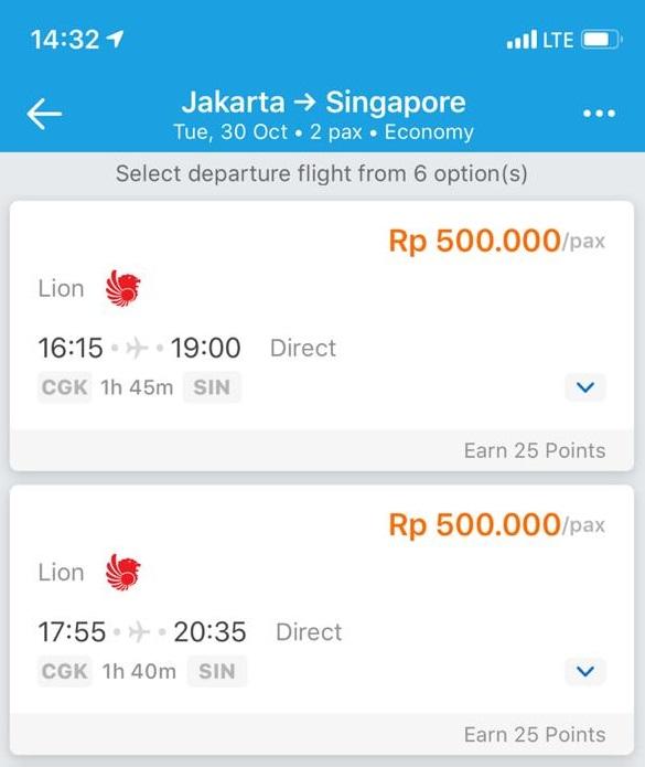 Pesawat Lion Air Jatuh, Tiket Jakarta-Singapura Cuma Rp 500 Ribu