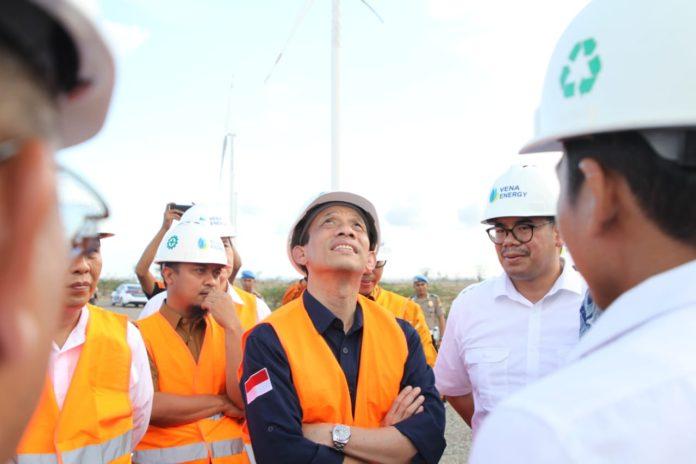 Wakil Menteri Energi dan Sumber Daya Mineral, Archandra Tahar pantau langsung progres 97% PLTB Tolo