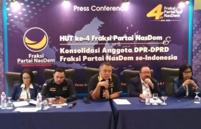 Rayakan Ultah ke-4, NasDem Targetkan 100 Kursi di DPR