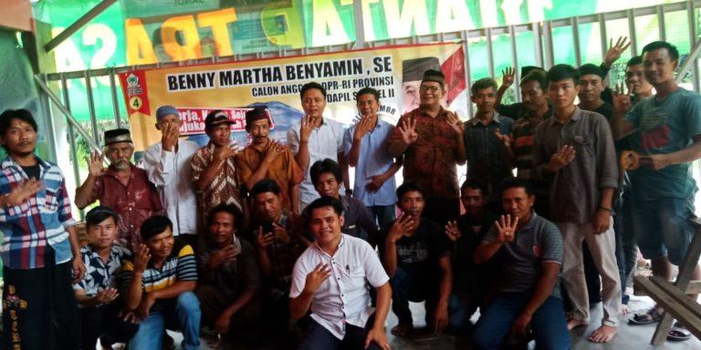 Jelang Hari H Pemilu, Benny Tatung Semakin Rajin Kunjungi Masyarakat