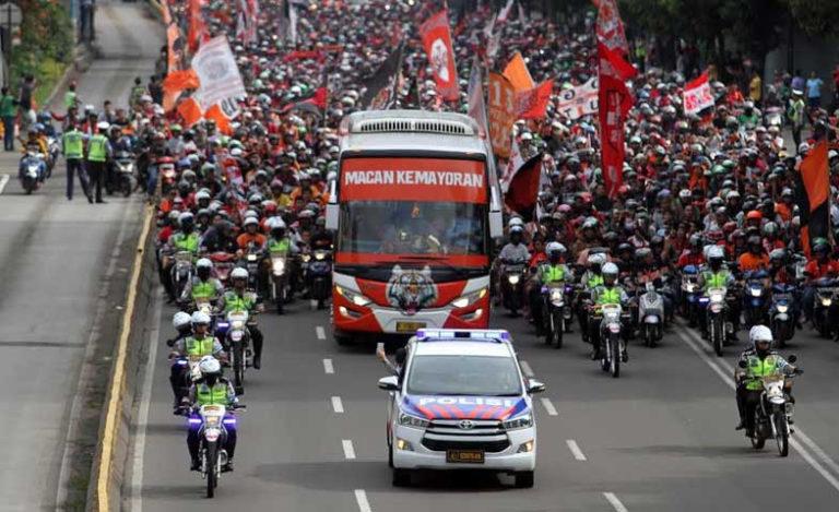 Polisi siapkan pengalihan arus lalu lintas saat pawai Persija