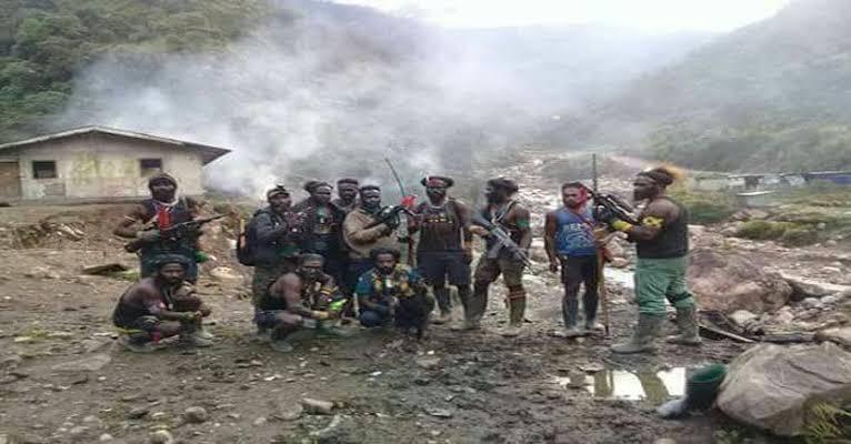 KKB Bakar Kamp dan Kendaraan di Kabupaten Puncak