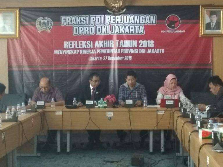 Gelar Refleksi Akhir Tahun, Fraksi PDIP DKI Kritisi Kebijakan Anies