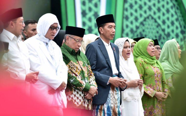 Hadiri Harlah Muslimat NU ke-73, Jokowi:Saya ingin Islam Moderat