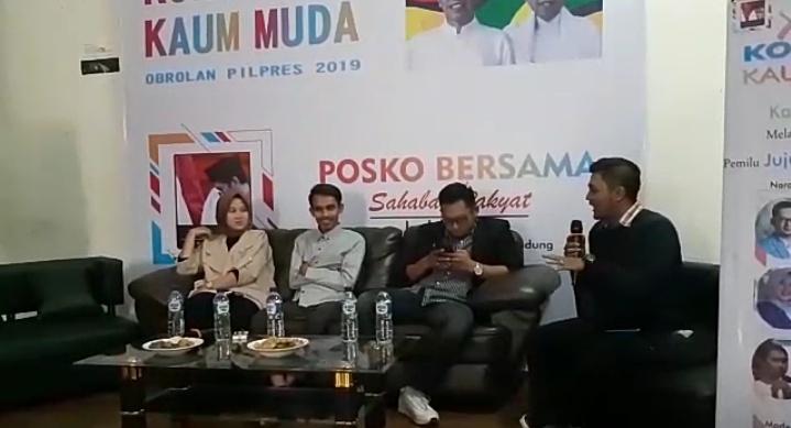 Tolak Hoaks Pemilu, Kaum Milenial Bandung gelar Kongkow di Posko Bersama Sahabat Rakyat