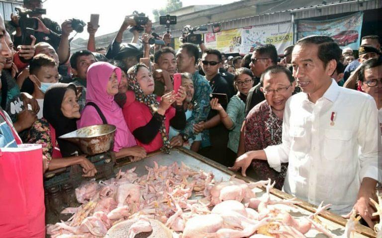 Tinjau Pasar Ngemplak Tulungagung, Jokowi Pantau Harga Daging Ayam