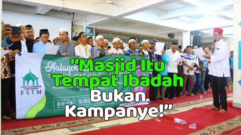 Forum Takmir Tolak Politisasi Masjid