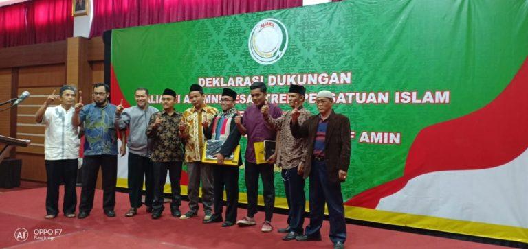 Alumni Pesantren PERSIS Jawa Barat Deklarasi Menangkan H. Joko Widodo KH. Maruf Amin