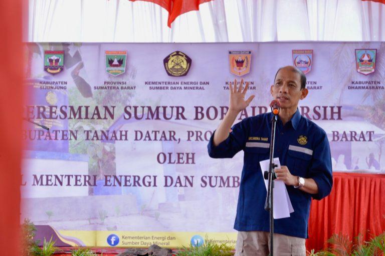 Wamen ESDM Resmikan 6 Sumur Bor, Lebih dari 16 ribu Jiwa Nikmati Air Bersih