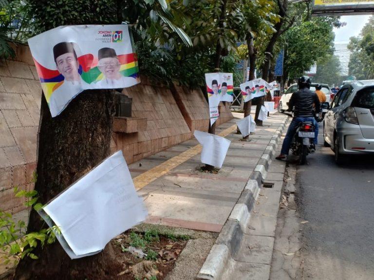Relawan SRI minta Aparat usut Rusaknya Ratusan Banner Jokowi-Ma'ruf di Bandung