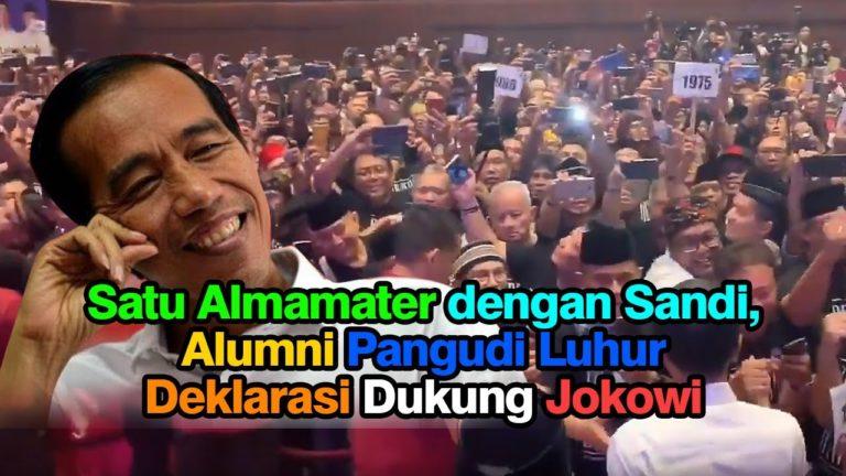 Jokowi terima Dukungan Alumni Sekolahnya Sandiaga Uno Pangudi Luhur