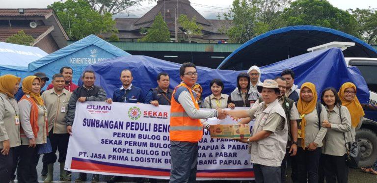Peduli Bencana, BULOG Kirim Bantuan dan Salurkan CBP ke Sentani Papua