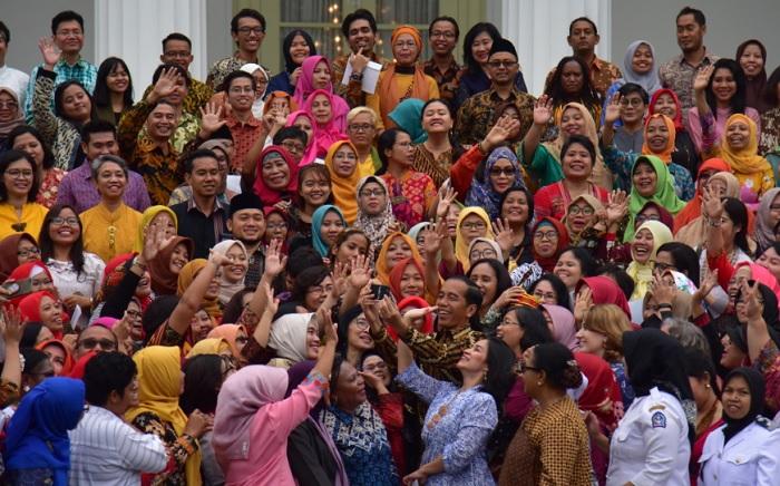 Jelang HPI 2019, Jokowi Dialog bersama Ratusan Perempuan Arus Bawah