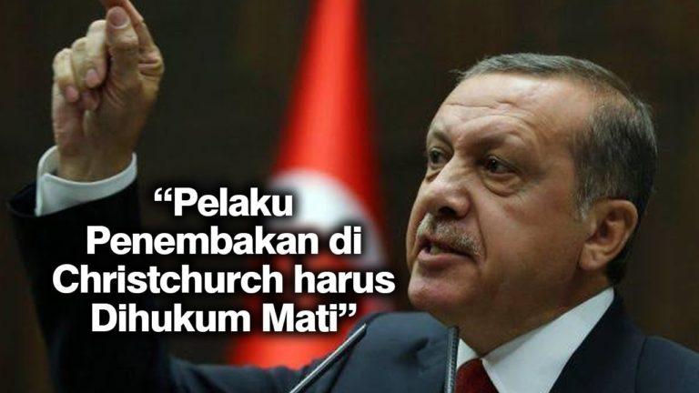 Erdogan Minta Pelaku Penembakan di Selandia Baru Dihukum Mati