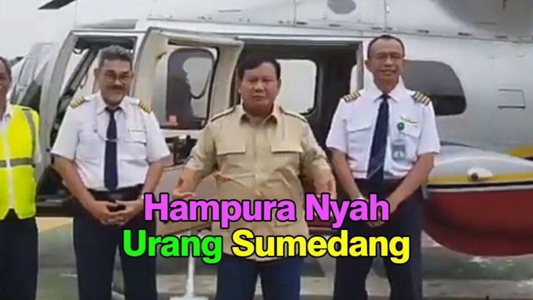 Gagal Terbang, Prabowo Minta Maaf kepada Warga Sumedang