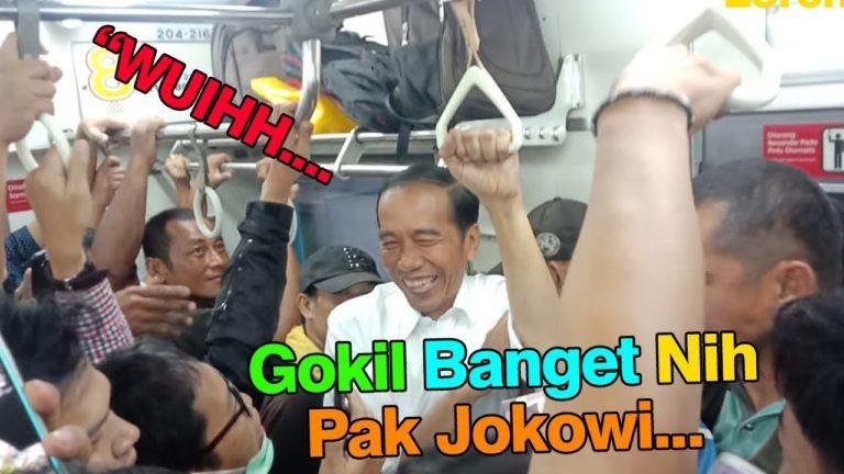 Surprise! Jokowi berdesak-desakan naik KRL Commuter Line ke Bogor