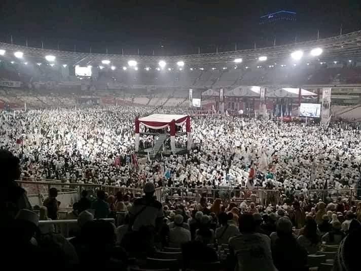 Panitia Bantah Rumor Massa Bayaran di Acara Kampanye Akbar Prabowo