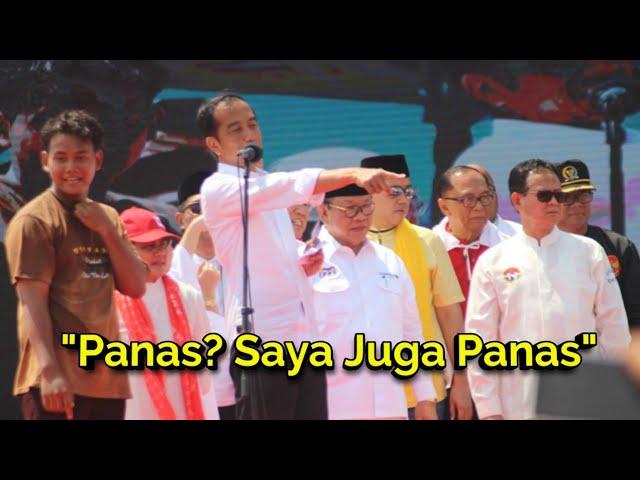 Panas Menyengat! Jokowi Semangati Puluhan Ribu Pendukung di Pantura Cirebon